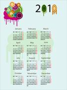 2010 calendar - stock illustration