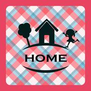 home sweet home - stock illustration