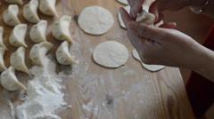 Pinch dumplings - stock footage