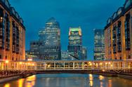Stock Photo of london canary wharf at night