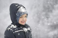 happy child in wintertime - stock photo
