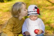 Child whisper Stock Photos