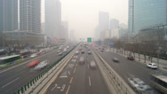 Stock Video Footage of Beijing City Traffic Timelapse 02