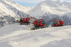 machine for snow preparations - stock photo
