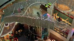Luxurt decorative colorful cruise resort lobby HD 1790 Stock Footage