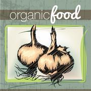 Organic food illustration Stock Illustration