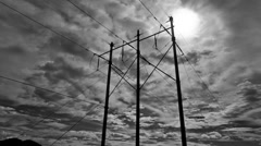 Electrical Poles Timelapse 4k Stock Footage