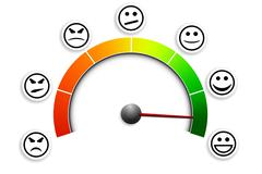 satisfaction meter 03 - stock illustration