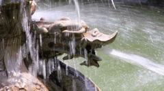 Stone sculpture of dragon fountain,xian,shaanxi,China Stock Footage