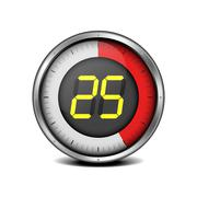 timer digital 25 - stock illustration
