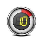 Timer digital 10 Stock Illustration
