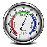 hygrometer with thermometer - stock illustration