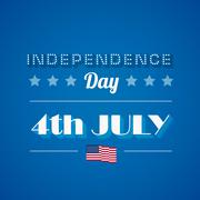 usa independence day poster vector design template. 4th of july celebration. - stock illustration