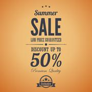 Summer sale poster advertisement. retro style. vintage vector design template Stock Illustration
