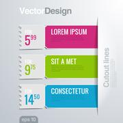 Infographics cutout lines design template. vector high detail. Stock Illustration
