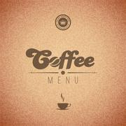 Coffee vector background menu poster. retro design template. Stock Illustration