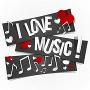 I Love Music Stock Illustration