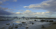 Low tide shore cloudscape reflections Philippines time lapse 4k - stock footage
