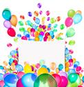 Stock Photo of Holiday banners with colorful balloons