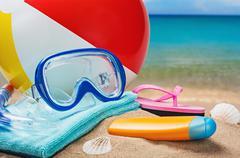 Beach accessories Stock Photos