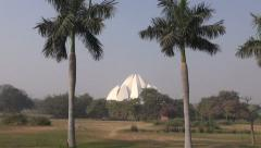 Bahai religion  House of Worship, Lotus temple in New Delhi, India Stock Footage