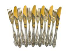 Stock Photo of Set of forks and knives