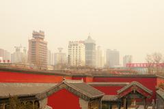 Air pollution china shenyang beijing city Stock Photos