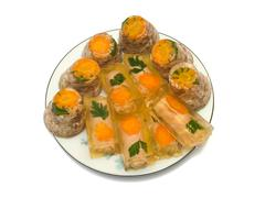 Dish with aspic Stock Photos