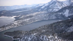 Aerial Footage of Emerald Bay, Lake Tahoe Stock Footage