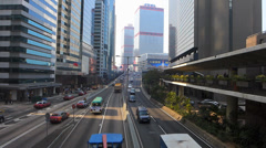 Hong Kong financial Central district traffic Asia China Stock Footage