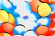 Stock Illustration of illustration with colored balls