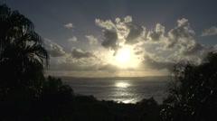 Town 1770 sunset time lapse Australia Stock Footage