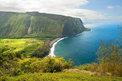 Waipio valley lookout on hawaii big island Stock Photos
