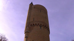 Tower from the ramparts (Brugge, Belgium) - stock footage