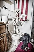 what happens in the bathroom - stock photo