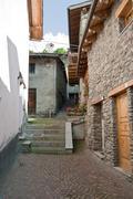 ancient borgo, La thuille, Italy - stock photo