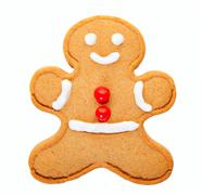 Gingerbread man with clipping path Stock Photos