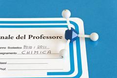 Chemistry teacher's register Stock Photos