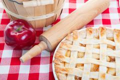 all american apple pie - stock photo