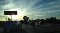 "Los Angeles Kalifornia Help Save Water ""Freeway Kirjaudu Kuvituskuvat"