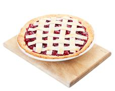 homemade cherry pie - stock photo