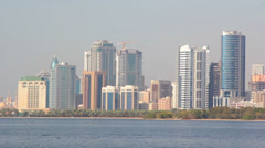 UAE.Shardzha.Corniche St.February 2014. Stock Footage