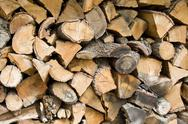 Stock Photo of stack of wood.
