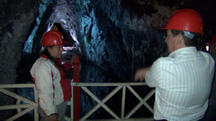 Miners, Underground Mines, Workers - stock footage