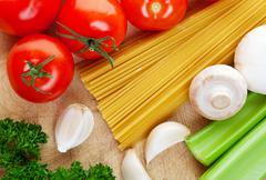 cooking italian - stock photo