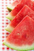 Watermelon slices Stock Photos