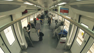Stock Video Footage of 4K Time lapse of passangers inside a train