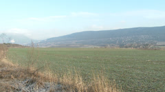 4K Countryside Continental Snowless Winter 1 Stock Footage