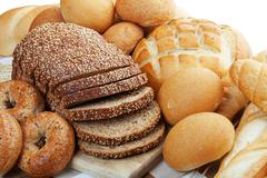 Assortment of breads Stock Photos