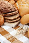 Baked breads Stock Photos